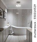 large furnished bathroom in... | Shutterstock . vector #550314529