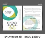 vector business flyer  magazine ... | Shutterstock .eps vector #550315099