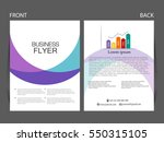 vector business flyer  magazine ... | Shutterstock .eps vector #550315105