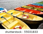 Colorful Recreation Boats In A...