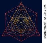neon gold vector sketch of a... | Shutterstock .eps vector #550319725
