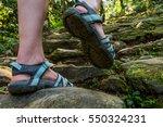 closeup of female legs wearing... | Shutterstock . vector #550324231