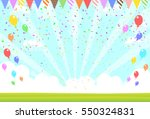 natural scenery and balloons | Shutterstock .eps vector #550324831