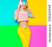 minimal fashion pop art.... | Shutterstock . vector #550332949