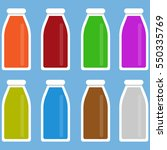 bottles with juice isolated on... | Shutterstock .eps vector #550335769