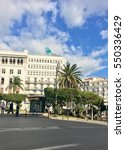 Small photo of ALGIERS, ALGERIA - JAN 5, 2017: French colonial side of the city of Algiers Algeria.Modern city has many old french type buildings.