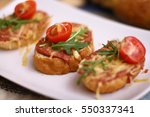 mini sandwiches | Shutterstock . vector #550337341