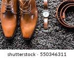 men's classic shoes  belt and...   Shutterstock . vector #550346311