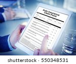 auto insurance claim form... | Shutterstock . vector #550348531