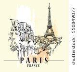 paris illustration. vector... | Shutterstock .eps vector #550349077