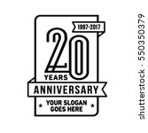 20th anniversary logo. vector... | Shutterstock .eps vector #550350379