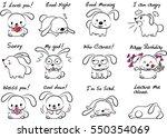 cartoon rabbit set   Shutterstock .eps vector #550354069