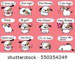 cartoon puppy set   Shutterstock .eps vector #550354249