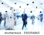 data management system and... | Shutterstock . vector #550356865