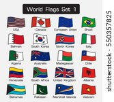 world flags set 1 . simple... | Shutterstock .eps vector #550357825