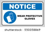 wear gloves   safety sign ...   Shutterstock .eps vector #550358869