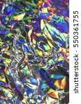holographic abstract shiny... | Shutterstock . vector #550361755