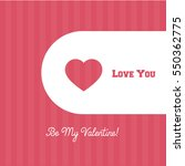 valentines day cute banner or... | Shutterstock .eps vector #550362775