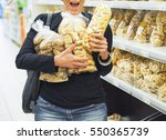 woman doing shopping at the... | Shutterstock . vector #550365739