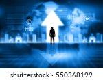 confident businessman  look at... | Shutterstock . vector #550368199