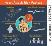 heart attack risk factors... | Shutterstock .eps vector #550379629