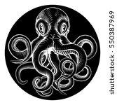 an original octopus or squid... | Shutterstock .eps vector #550387969
