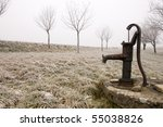 Old Rusty Water Pump On The...