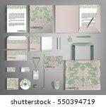 trendy corporate identity... | Shutterstock .eps vector #550394719