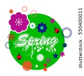 floral spring graphic design  ... | Shutterstock .eps vector #550400011