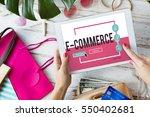 online shopping e commerce... | Shutterstock . vector #550402681