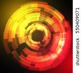 techno geometric vector circle... | Shutterstock .eps vector #550409071