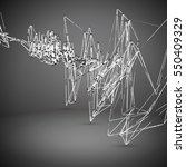 abstract geometric polygonal... | Shutterstock .eps vector #550409329