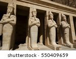 ancient egyptian statues... | Shutterstock . vector #550409659
