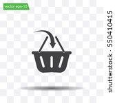 vector shopping basket icon | Shutterstock .eps vector #550410415