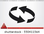 rotation arrows icon vector... | Shutterstock .eps vector #550411564
