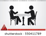 people at the table  interior... | Shutterstock .eps vector #550411789
