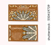 set of business cards. vintage... | Shutterstock .eps vector #550419739