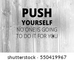 fitness motivation quotes | Shutterstock . vector #550419967
