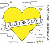 valentines day greeting card.... | Shutterstock .eps vector #550421641