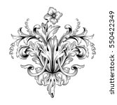 vintage baroque ornament retro... | Shutterstock .eps vector #550422349