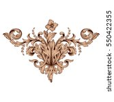vintage baroque ornament retro... | Shutterstock .eps vector #550422355