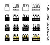 beer box icon set | Shutterstock .eps vector #550427047