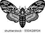 deaths head hawk moth butterfly.... | Shutterstock .eps vector #550428934