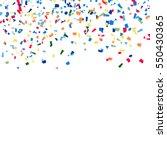 confetti falling vector. bright ... | Shutterstock .eps vector #550430365
