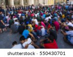 blurred migrant people in the...   Shutterstock . vector #550430701