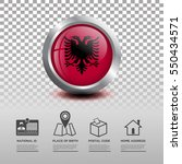 circle flag of albania in... | Shutterstock .eps vector #550434571