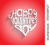 valentines day card with... | Shutterstock .eps vector #550438927