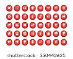 red game button templates. pack ... | Shutterstock .eps vector #550442635