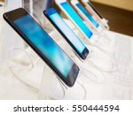 mobile smartphone in electronic ... | Shutterstock . vector #550444594