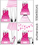 vector kit of contemporary... | Shutterstock .eps vector #550450141